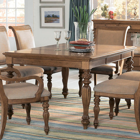 American Drew Grand Isle Rectangle Leg Dining Table in Amber