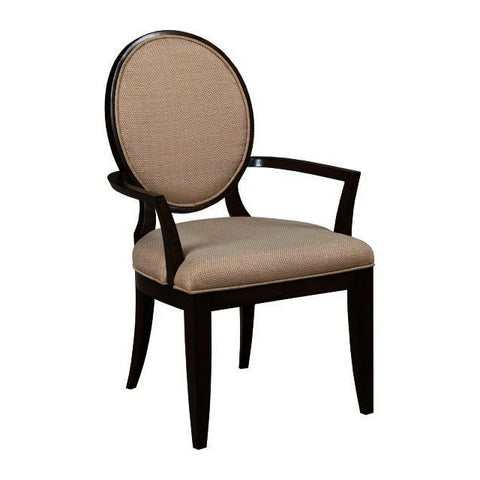 American Drew Grantham Hall Upholstered Arm Chair w/Decorative Back