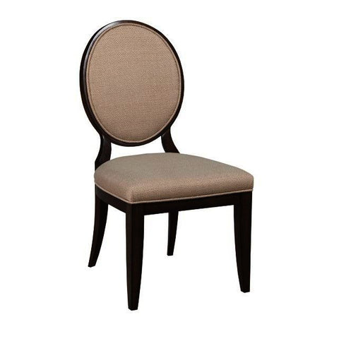 American Drew Grantham Hall Upholstered Side Chair w/Decorative Back