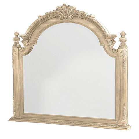 American Drew Jessica McClintock Boutique Arched Mirror in White Veil