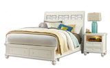 American Drew Lynn Haven 2 Piece Sleigh Bedroom Set w/Storage Footboard