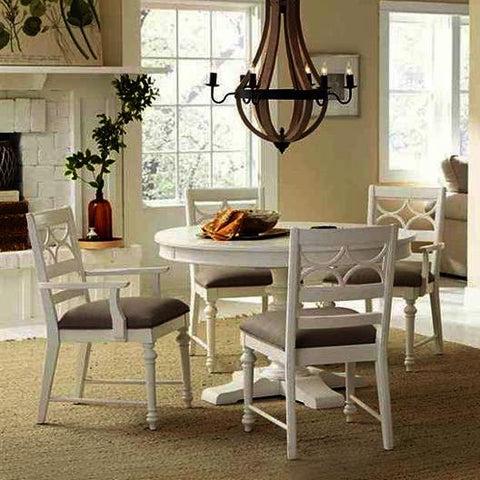 American Drew Lynn Haven 5 Piece 48 Inch Round Dining Room Set