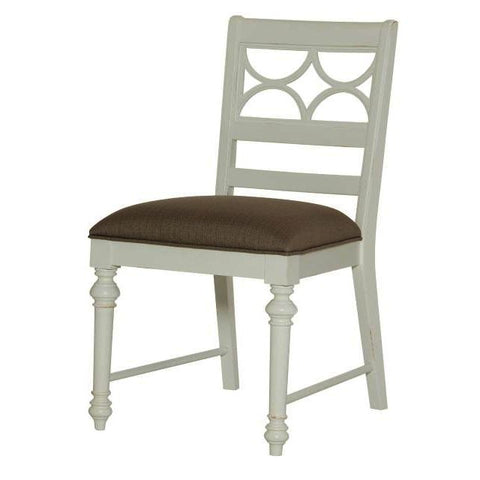 American Drew Lynn Haven Fret Work Side Chair