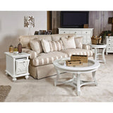 American Drew Lynn Haven 4 Piece Glass Coffee Table Set