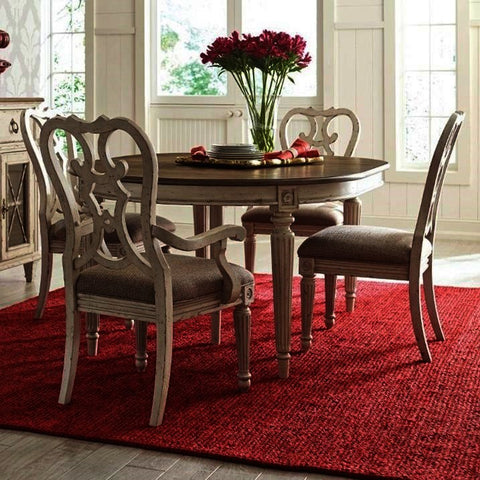 American Drew Southbury 5 Piece Round Dining Room Set