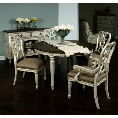 American Drew Southbury 6 Piece Round Dining Room Set