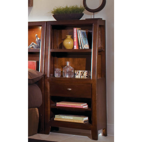 American Drew Tribecca Bookcase Nightstand in Root Beer Color