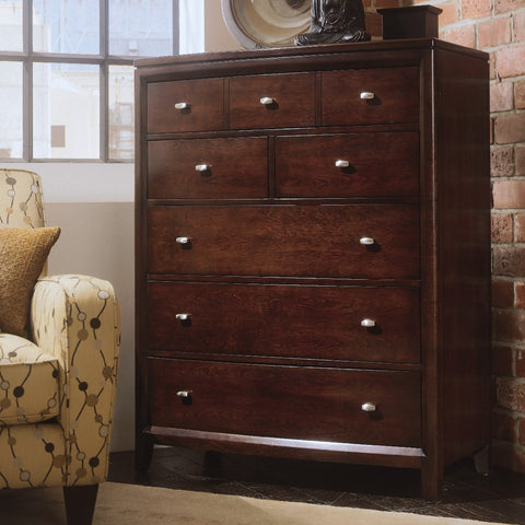American Drew Tribecca Drawer Chest in Root Beer Color