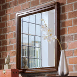 American Drew Tribecca Landscape Mirror in Root Beer Color