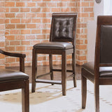 American Drew Tribecca Leather Barstool in Root Beer Color