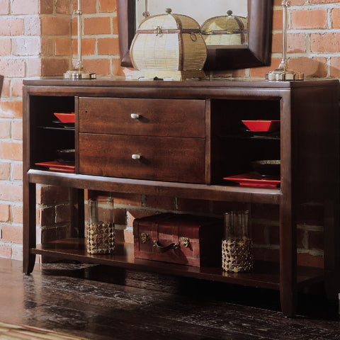 American Drew Tribecca Sideboard/Credenza in Root Beer Color