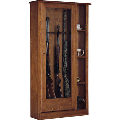 American Furniture Classics 10 Gun/Curio Cabinet Combination In Medium Brown