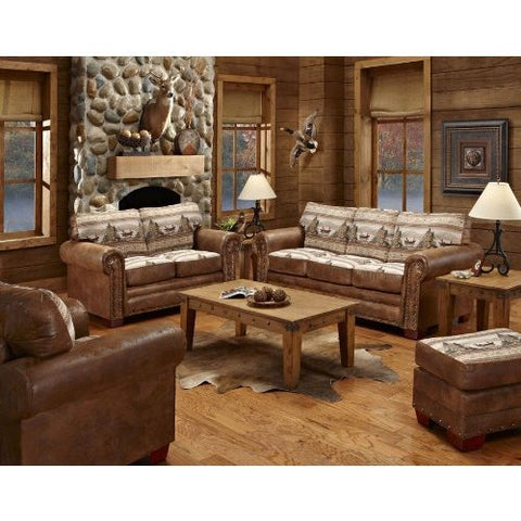 American Furniture Alpine Lodge 4 Piece Living Room Set