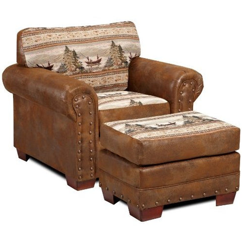 American Furniture Alpine Lodge Chair And Ottoman Set