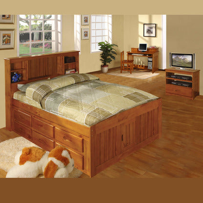 American Furniture Classics Bookcase Full Bed In Honey Beyond Stores