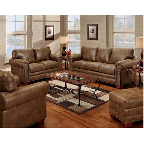 American Furniture Classics Buckskin 4 Piece Living Room Set