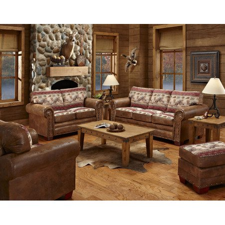 American Furniture Deer Valley 4 Piece Living Room Set With Sleeper