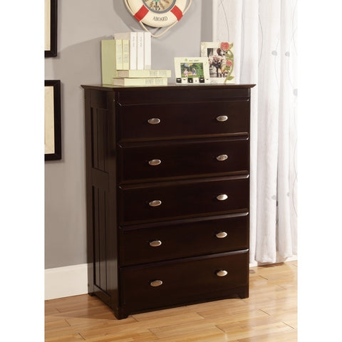 American Furniture Classics Five Drawer Chest In Espresso