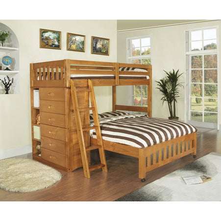 American Furniture Classics Loft Twin Over Full In Honey Beyond Stores