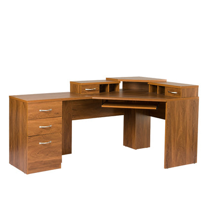 American Furniture Classics Reversible Corner Work center In Autumn Oak