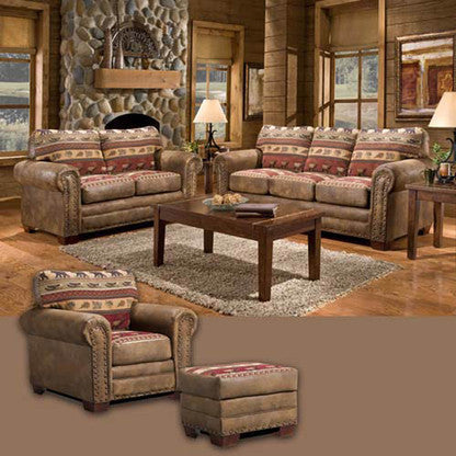 American Furniture Sierra Lodge 4 Piece Living Room Set With Sleeper