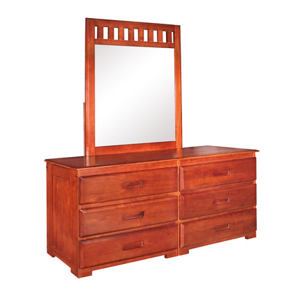 American Furniture Classics Six Drawer Dresser With Mirror In Merlot