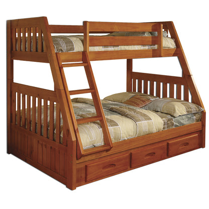 American Furniture Classics Twin/Full Bunk Bed In Honey