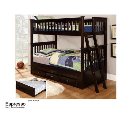American Furniture Classics Twin Over Twin Bunk In Espresso