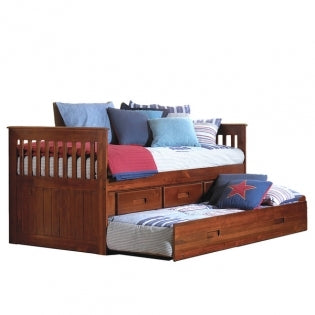American Furniture Classics Twin Rake Bed In Merlot