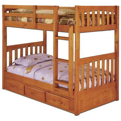 American Furniture Classics Twin/Twin Bunk Bed In Honey