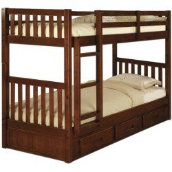 American Furniture Classics Twin/Twin Bunk Bed In Merlot
