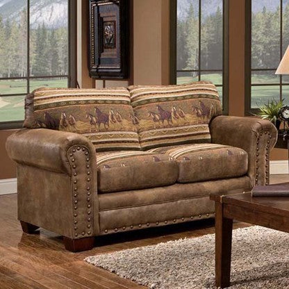 American Furniture Wild Horses Loveseat