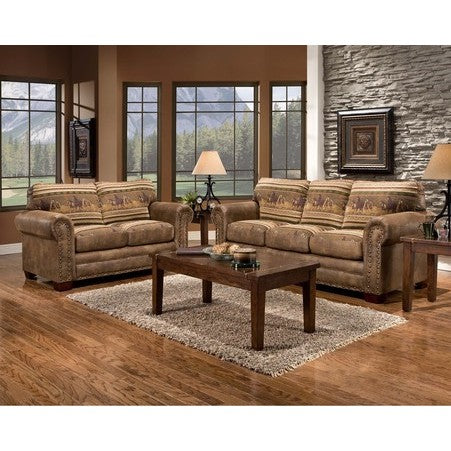 American Furniture Wild Horses Two Piece Lodge Set