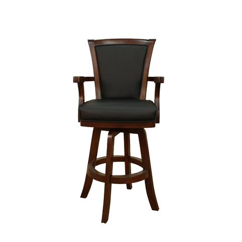 American Heritage Auburn Bar Stool in Suede w/ Black Leather