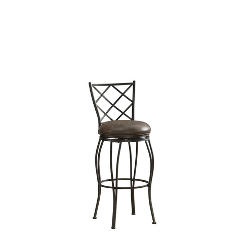 American Heritage Ava Collection Bar Height Barstool in Coco