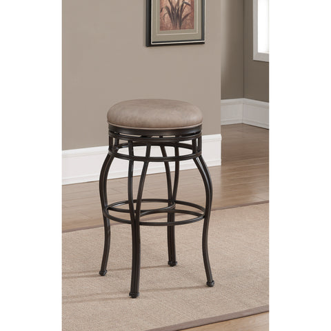 American Heritage Bella Backless Bar Height Stool in Aged Sienna