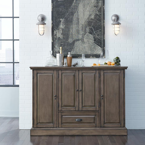 American Heritage Carlotta Wine Cabinet in Charcoal