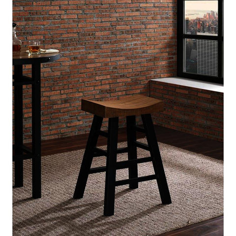 American Heritage Cheyenne Reclaimed Wood Bar Height Stool
