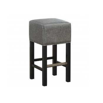 American Heritage Delmar Collection Counter Height Barstool in Black and Charcoal