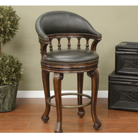 American Heritage Giovanni Collection Counter Height Barstool in Brown