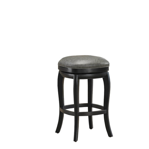 American Heritage Madrid Collection Counter Height Barstool in Charcoal
