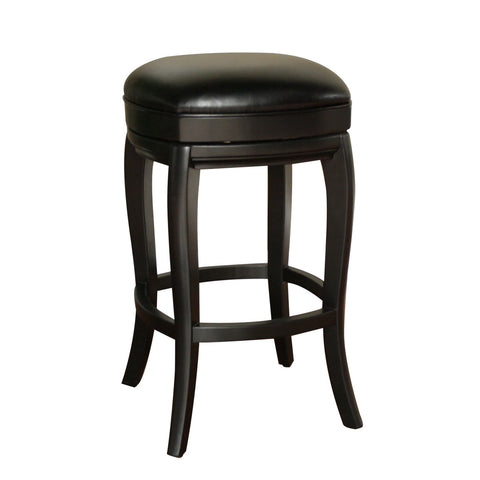 American Heritage Madrid Stool in Black w/ Toast Leather