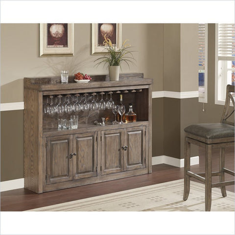 American Heritage Martino Collection Slim Line Oak Storage Cabinet in Glacier