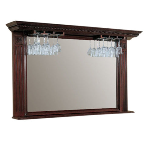 American Heritage Napoli Back Bar/ Mirror in Suede