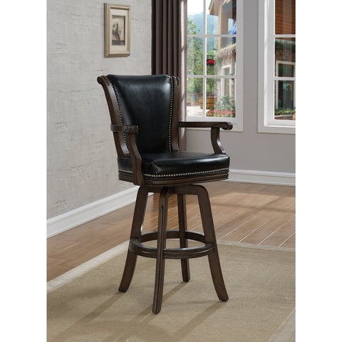 American Heritage Napoli Bar Height Stool in Pewter