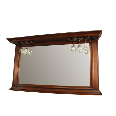 American Heritage Riviera Collection Mirror with Glass Holders in Riverbank