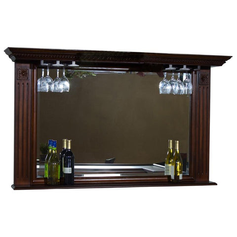 American Heritage Riviera Collection Oak Mirror with Glass Holders in Glacier