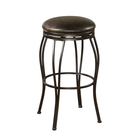 American Heritage Romano Stool in Coco w/ Tobacco Bonded Leather