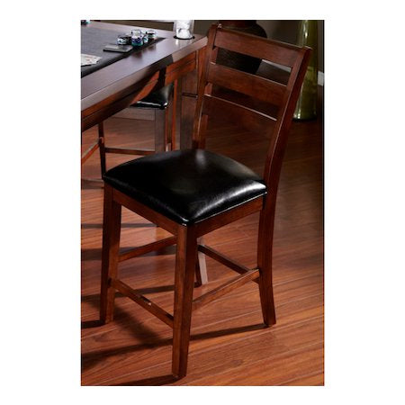 American Heritage Rosa Collection Counter Height Dining Chair in Suede with Black Cushion in Suede