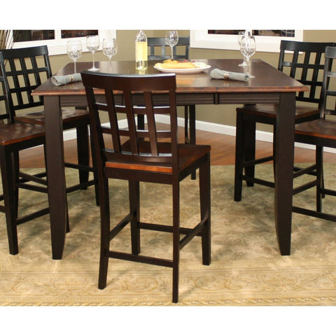 American Heritage Rosetta 7 Piece Counter Height Dining Set w/ Mia Stools
